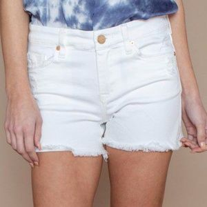 Blank NYC Cutoff Raw Hem Shorts